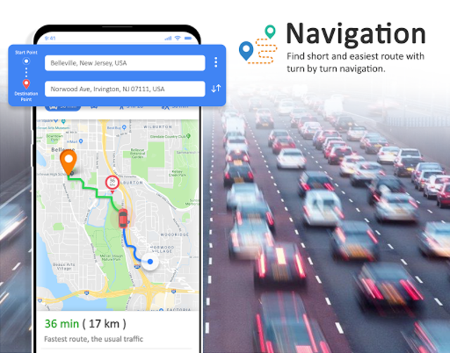 GPS Maps Navigation - Driving Route Planner Free screenshot 4