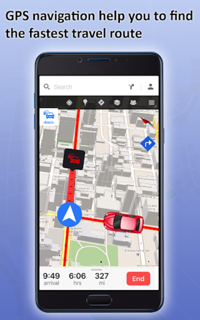 GPS Live Street View, Voice Route & Offline Maps screenshot 2