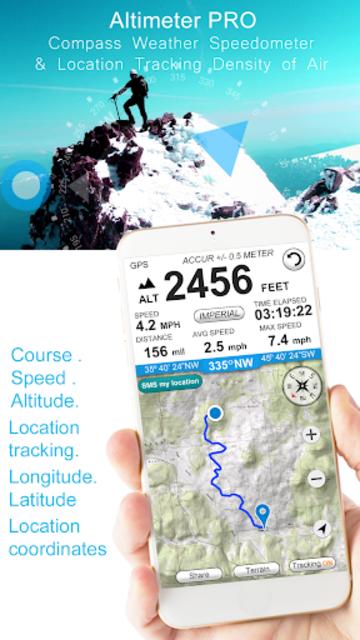 Altimeter GPS (Speedometer & Location Tracking) screenshot 1