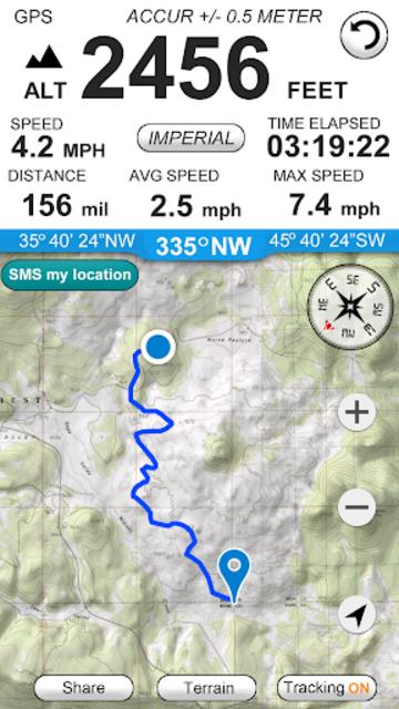 Altimeter GPS (Speedometer & Location Tracking) screenshot 2
