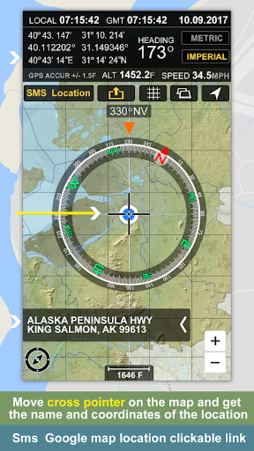 GPS Location Info, SMS Coordinates, Compass + screenshot 1