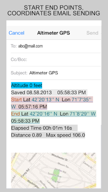 GPS Location Info, SMS Coordinates, Compass + screenshot 6