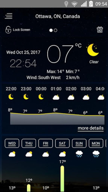 Weather forecast screenshot 24