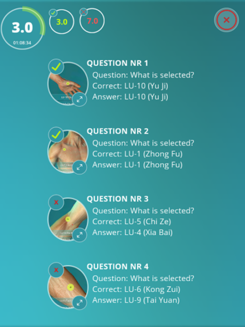 Acupuncture Quiz 3D - human screenshot 6