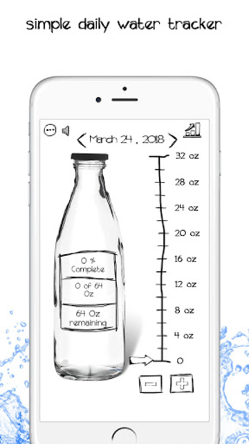 Simple Daily Water Tracker- Fun Hydration Reminder screenshot 1