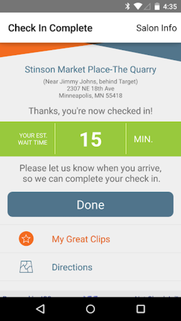 Great Clips Online Check-in screenshot 4