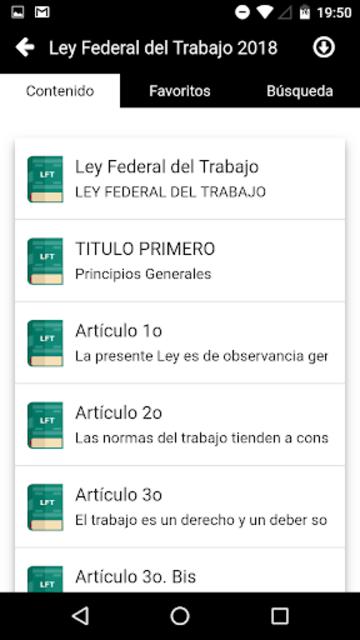 LFT 2019 - Ley Federal del Trabajo screenshot 2
