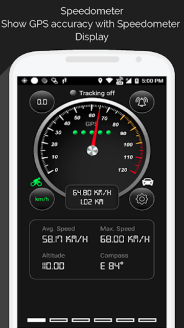 GPS Speedometer screenshot 1