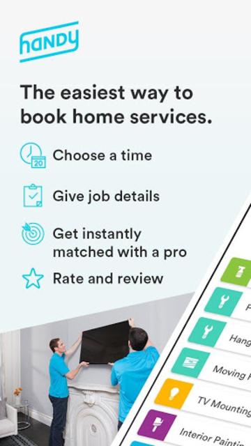 Handy - Book home services screenshot 1