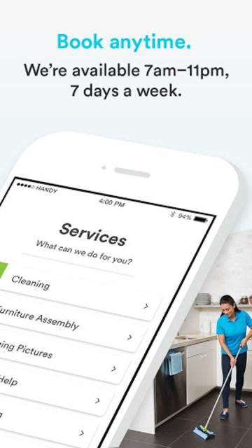 Handy - Book home services screenshot 2