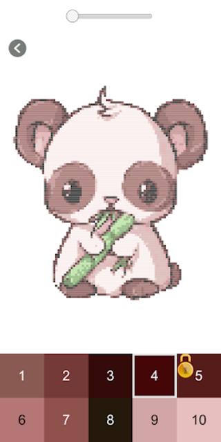 Happy Cartoon Pixel Book - Pixel Art Coloring screenshot 3