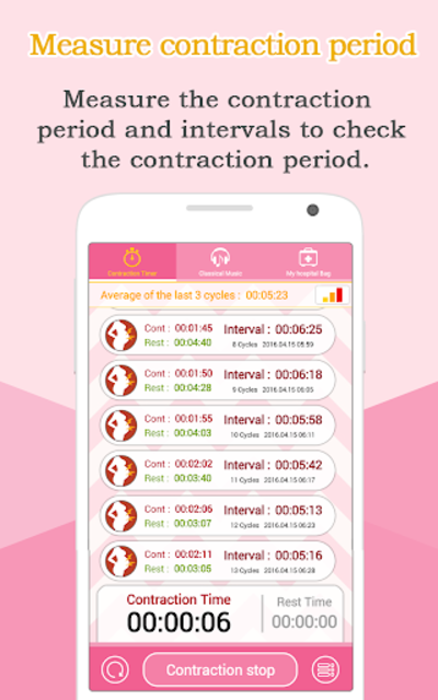 Contraction Timer (Labor) screenshot 1