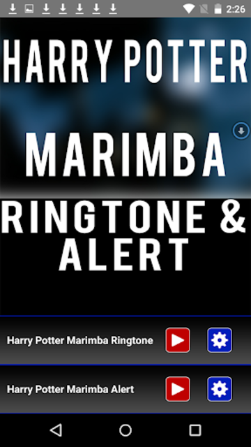 Harry Potter Marimba Ringtone screenshot 1