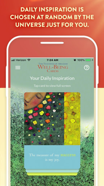 The Teachings of Abraham Well-Being Cards screenshot 3