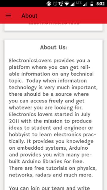 Electronics Lovers - Arduino ,Tech & Science Blog screenshot 4