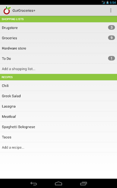 OurGroceries Key screenshot 11