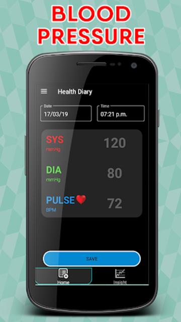 Blood Pressure : Blood Sugar : Body Temperature screenshot 2