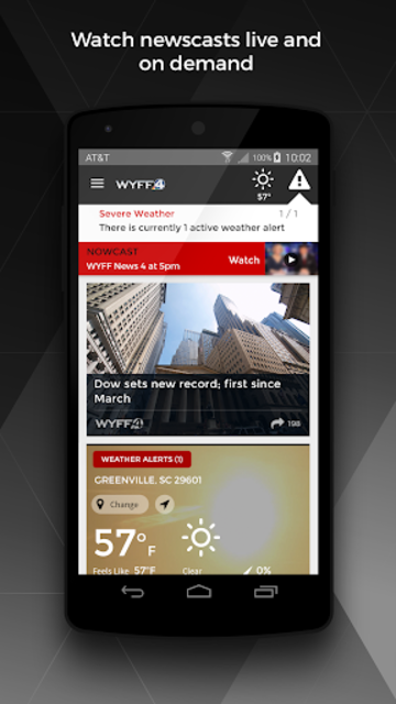 WYFF News 4 and weather screenshot 1