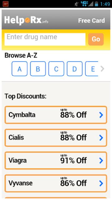 HelpRx Mobile Drug Discounts screenshot 1
