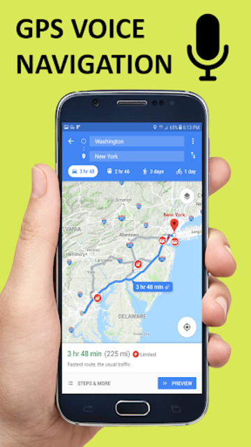 Voice GPS Driving Direction & Navigation Route screenshot 1