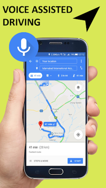 Voice GPS Driving Direction & Navigation Route screenshot 4