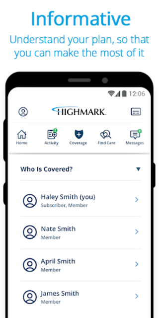 Highmark Plan screenshot 2