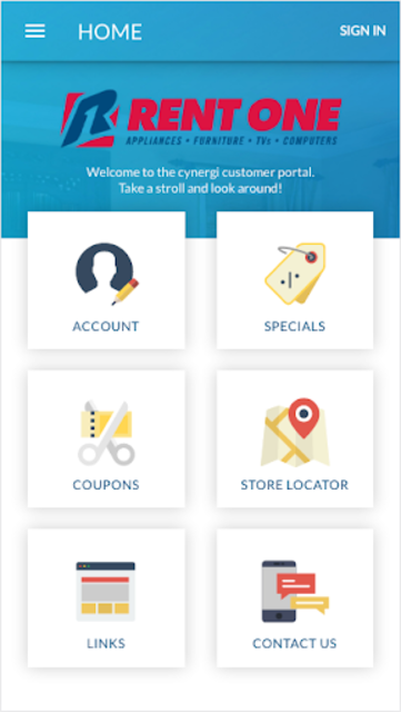 Rent One Customer Portal screenshot 1