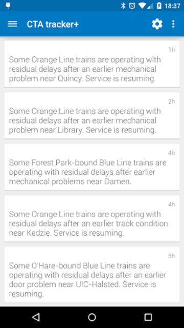 Transit Tracker+ - CTA screenshot 7
