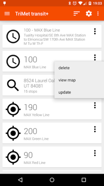 Transit Tracker+ - TriMet screenshot 1