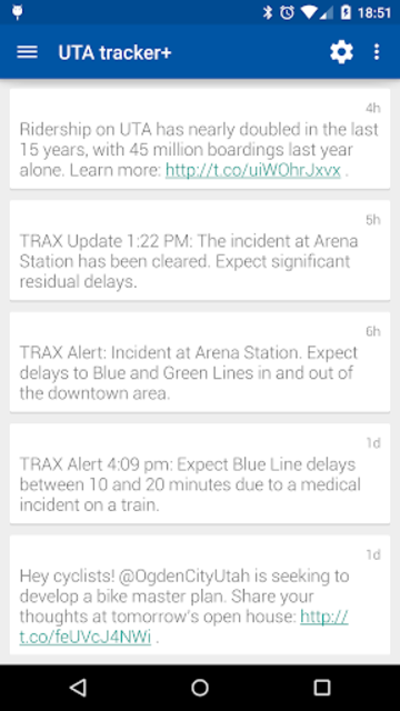 Transit Tracker+ - UTA screenshot 7