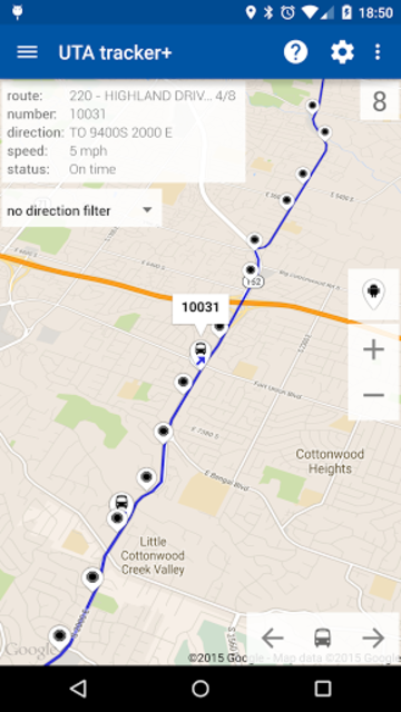 Transit Tracker+ - UTA screenshot 1