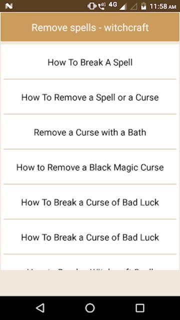 Remove spells - witchcraft screenshot 3