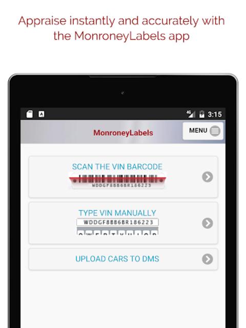 MonroneyLabels VIN Scanner screenshot 6