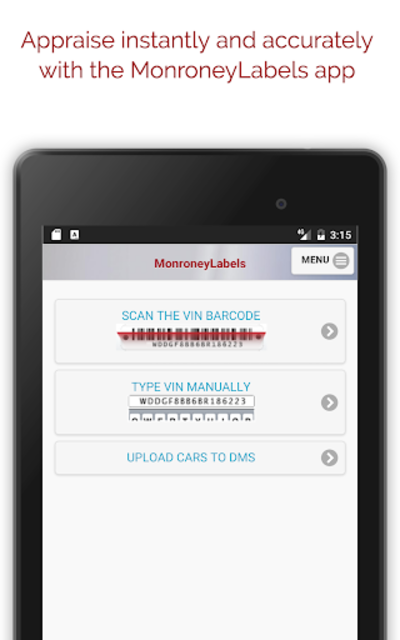 MonroneyLabels VIN Scanner screenshot 11
