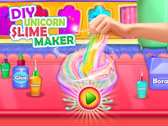 Fluffy Unicorn Slime Maker Simulator screenshot 1