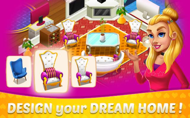 Home Design & Mansion Decorating Games Match 3 screenshot 1