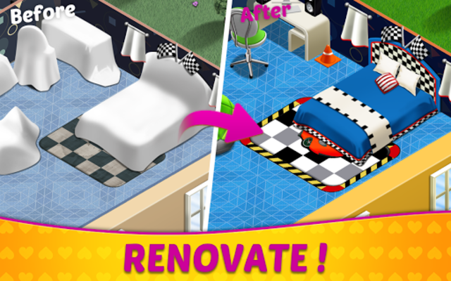 Home Design & Mansion Decorating Games Match 3 screenshot 2