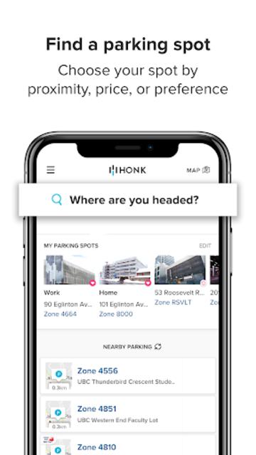 HonkMobile: Find & Pay for Parking screenshot 1