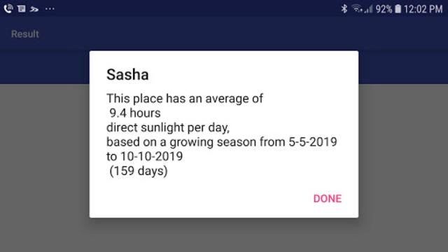 Sun & Shade Analyzer (SASHA) screenshot 1