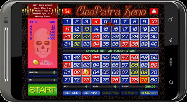 Cleopatra Keno screenshot 3