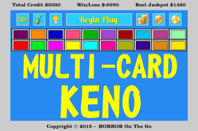 Multi-Card Keno screenshot 1