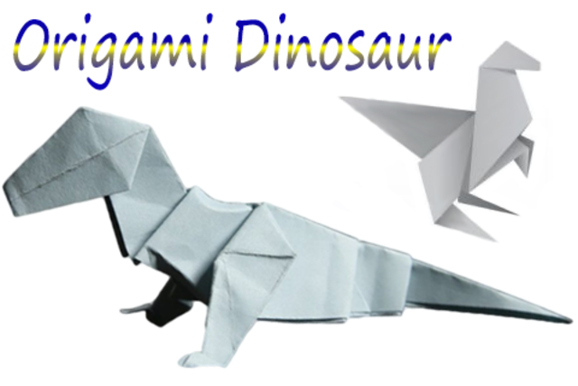How to make Origami Dinosaur screenshot 1