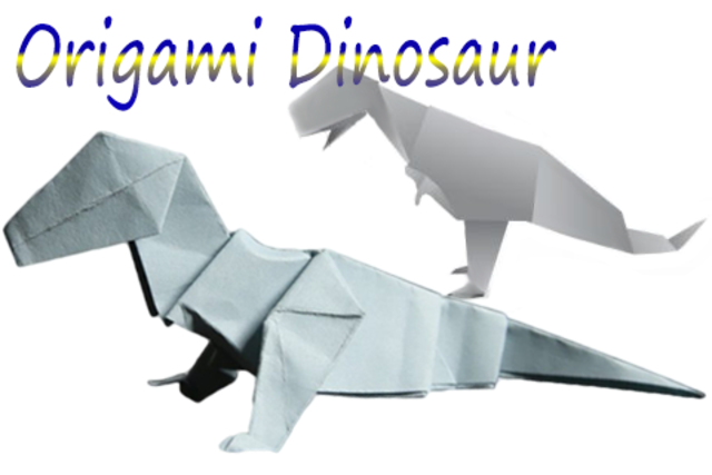 How to make Origami Dinosaur screenshot 2
