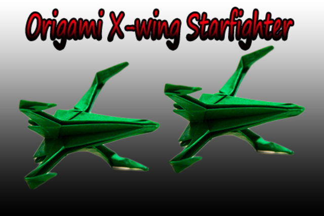 How to make Origami X-wing Starfighter screenshot 2