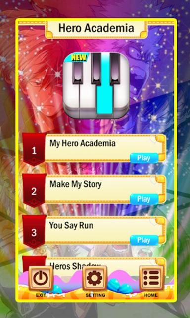 My Hero Academia Piano Tiles Magic screenshot 1