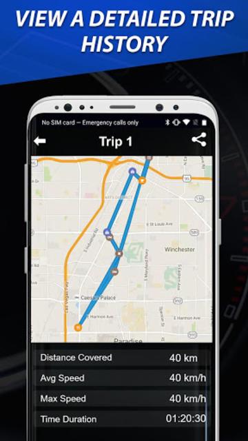 Speedometer: Heads Up Display & Speed Widget screenshot 4