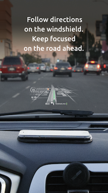 HUDWAY Go — GPS Navigation & Maps with HUD screenshot 2