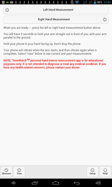 TremWatch(TM) Hand Tremor Test screenshot 18