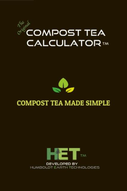 Compost Tea Calculator screenshot 2