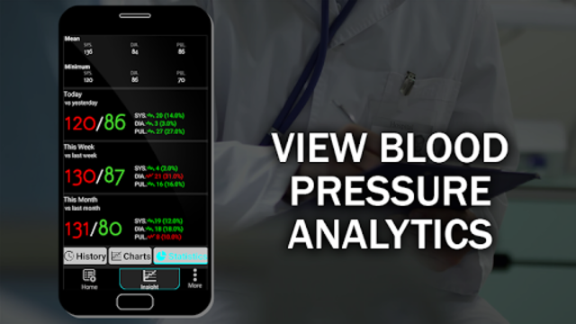 Blood Pressure Checker Diary : BP Info History Log screenshot 4